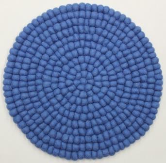 stuhlkissen aus filz 40 cm rund blau stuhlkissen aus filz produkte aus filz. Black Bedroom Furniture Sets. Home Design Ideas