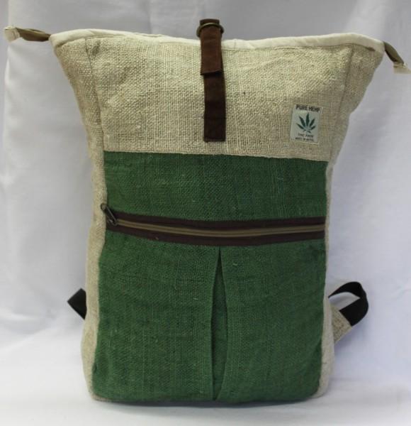 Taschen-Rucksack aus Hanffaser, grün