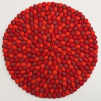 stuhlkissen aus filz 40 cm rund 3 rot t ne stuhlkissen aus filz produkte aus filz. Black Bedroom Furniture Sets. Home Design Ideas