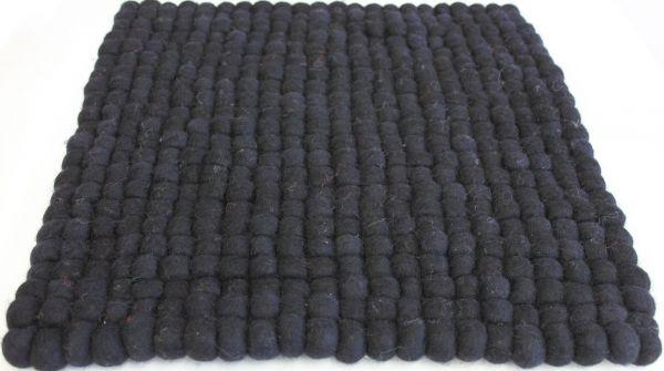 Stuhlkissen aus Filz, 40 x 40 cm, schwarz