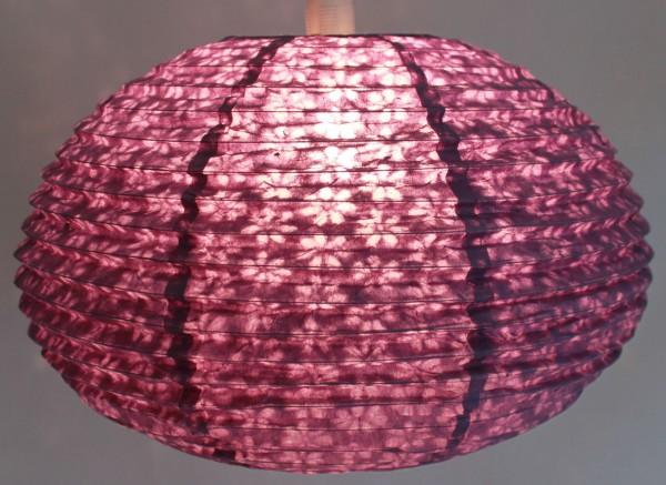 lampenschirm aus papier kugelf rmig 35 cm lila lampen. Black Bedroom Furniture Sets. Home Design Ideas