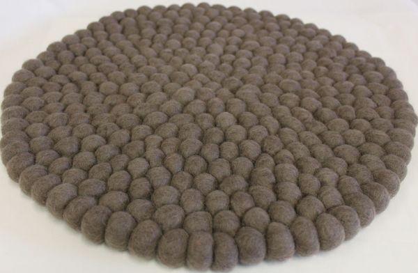 Stuhlkissen aus Filz, rund 40 cm, braun